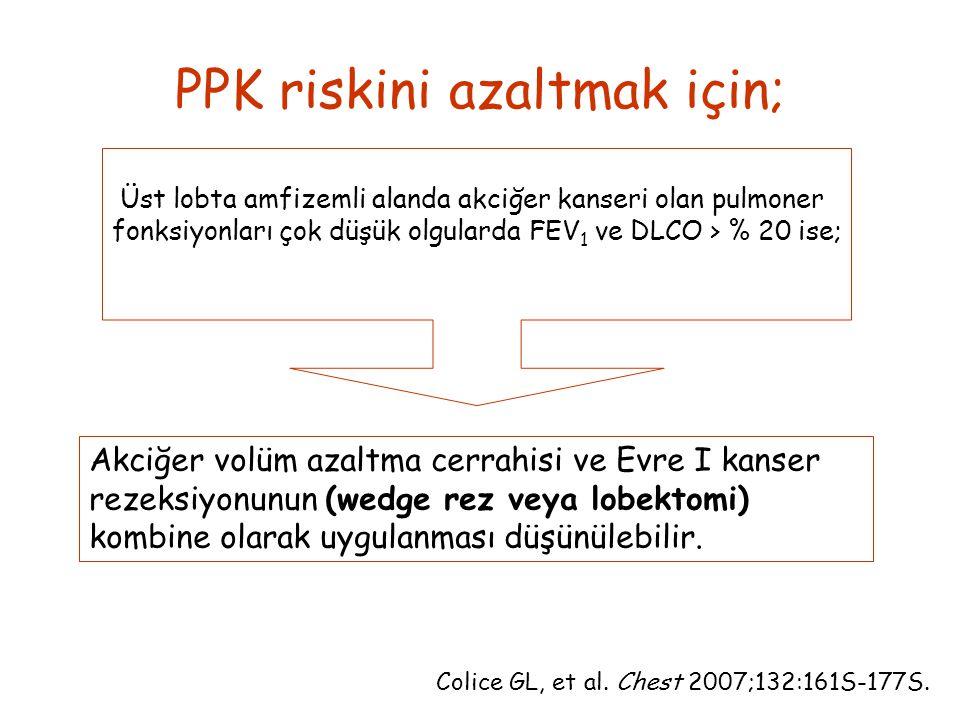 PPK riskini azaltmak için;