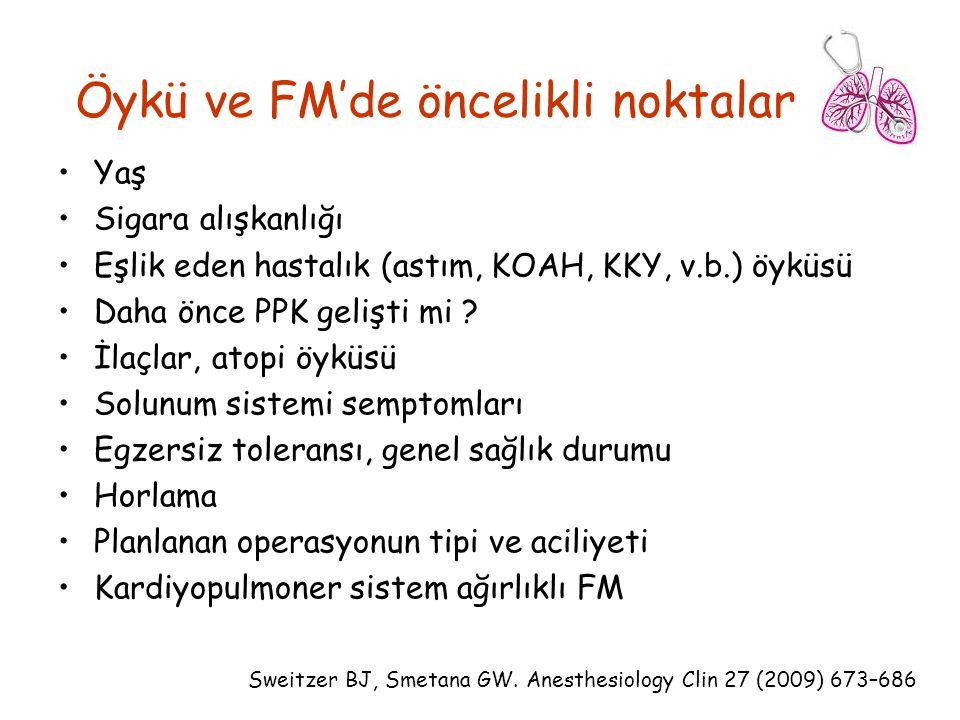 Öykü ve FM'de öncelikli noktalar