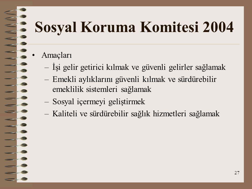 Sosyal Koruma Komitesi 2004