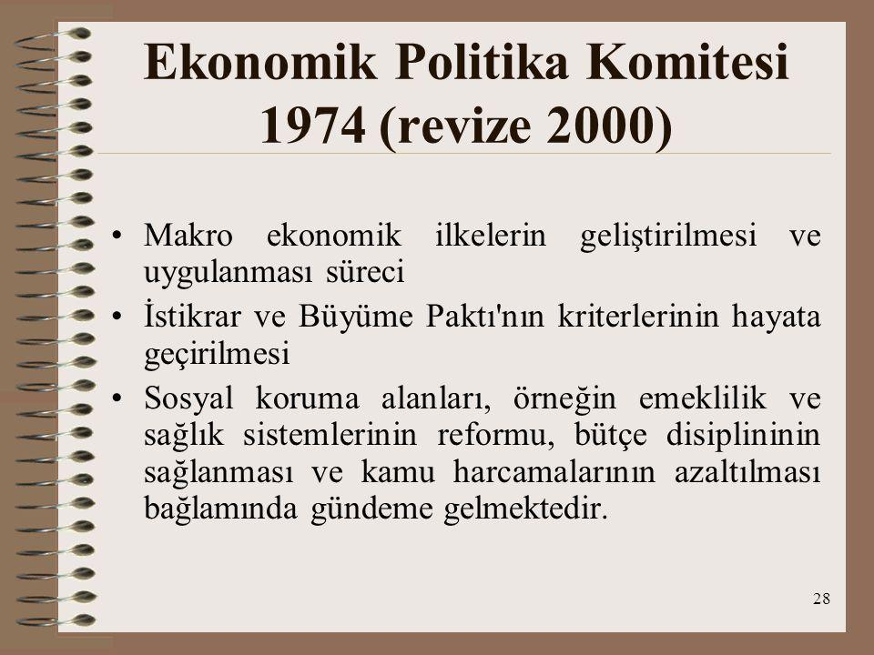 Ekonomik Politika Komitesi 1974 (revize 2000)