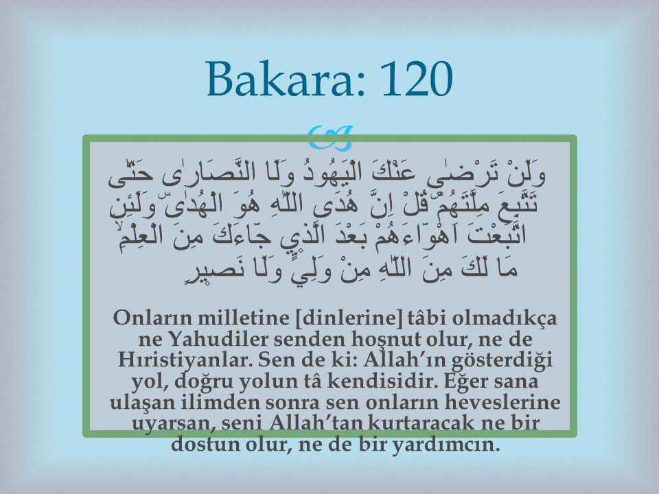 Bakara: 120