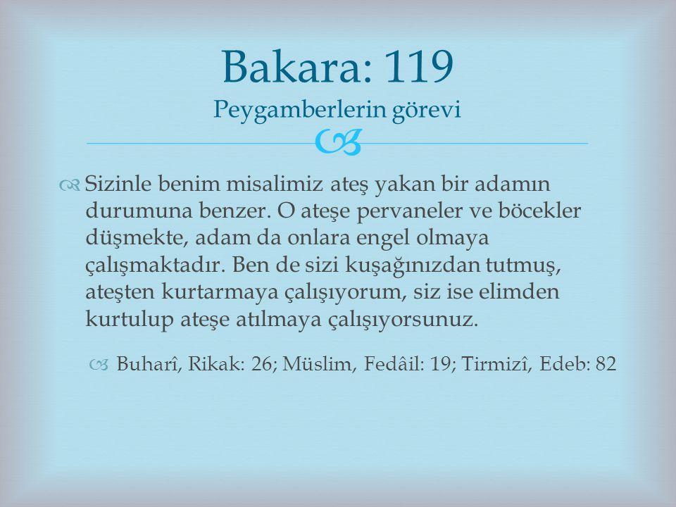Bakara: 119 Peygamberlerin görevi