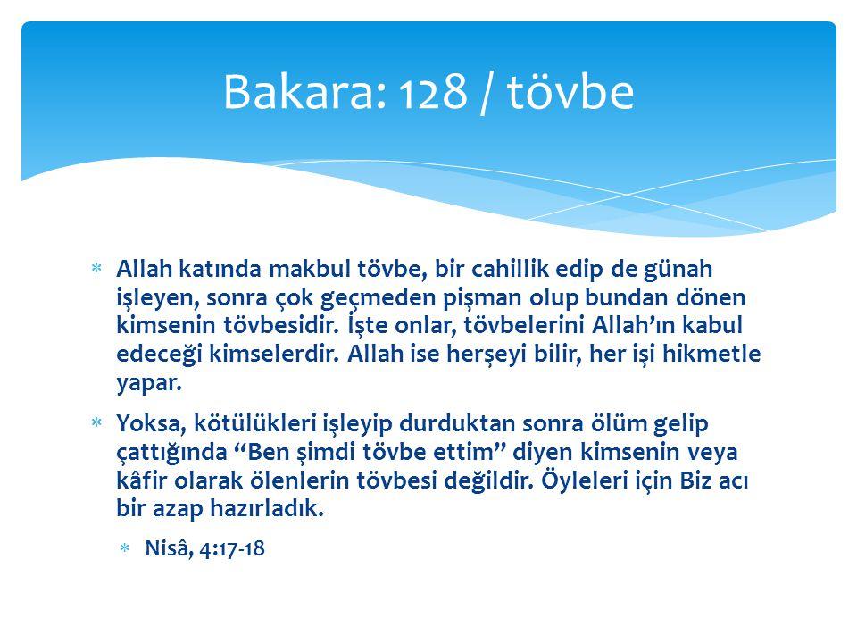 Bakara: 128 / tövbe