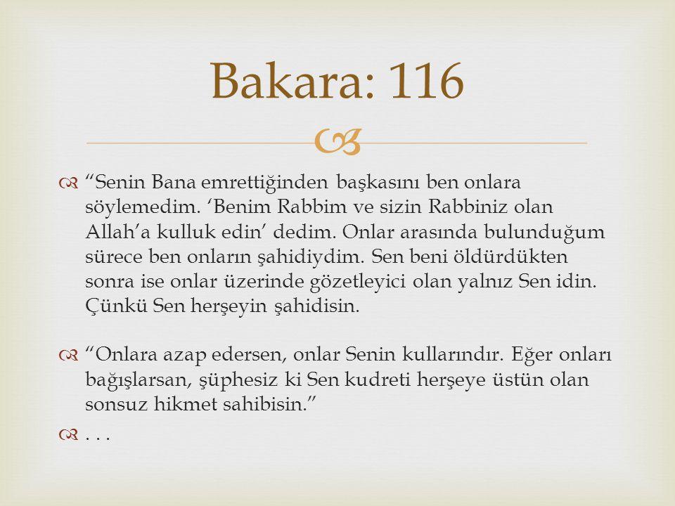 Bakara: 116