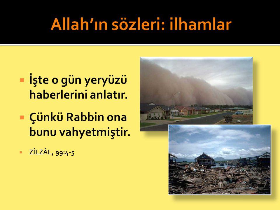 Allah'ın sözleri: ilhamlar