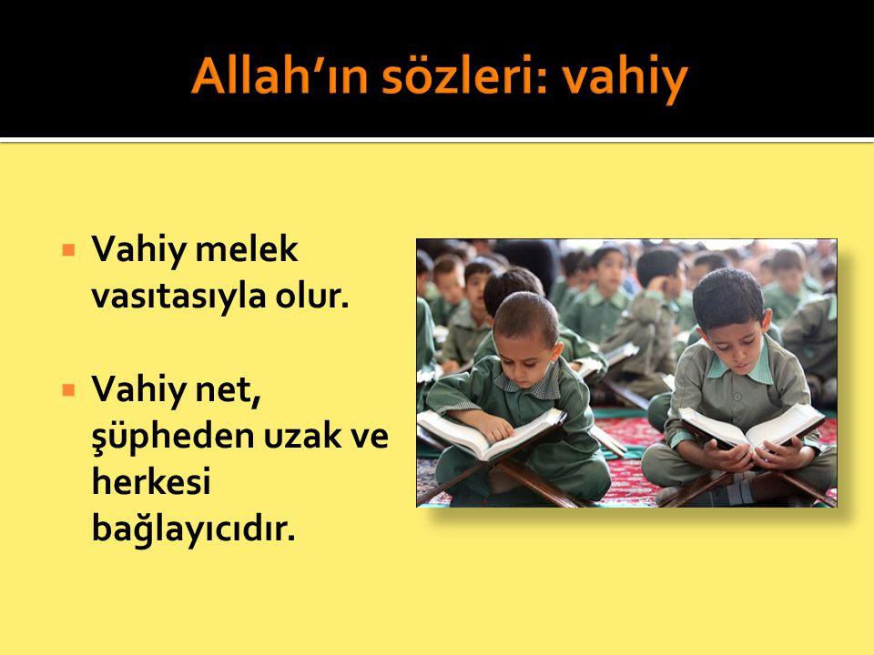 Allah'ın sözleri: vahiy