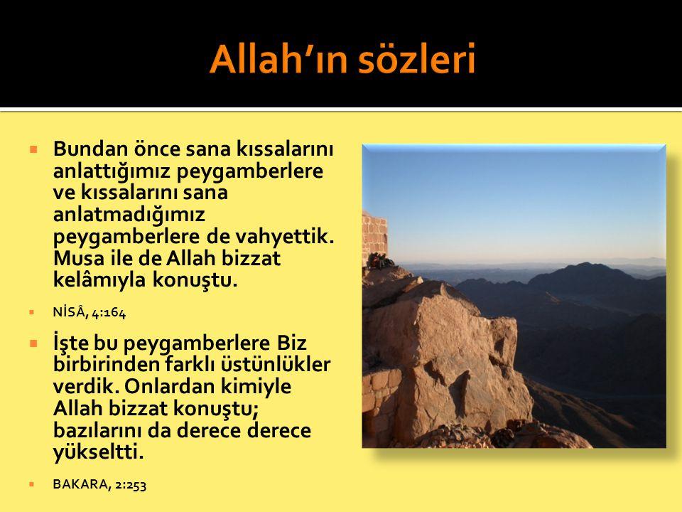 Allah'ın sözleri