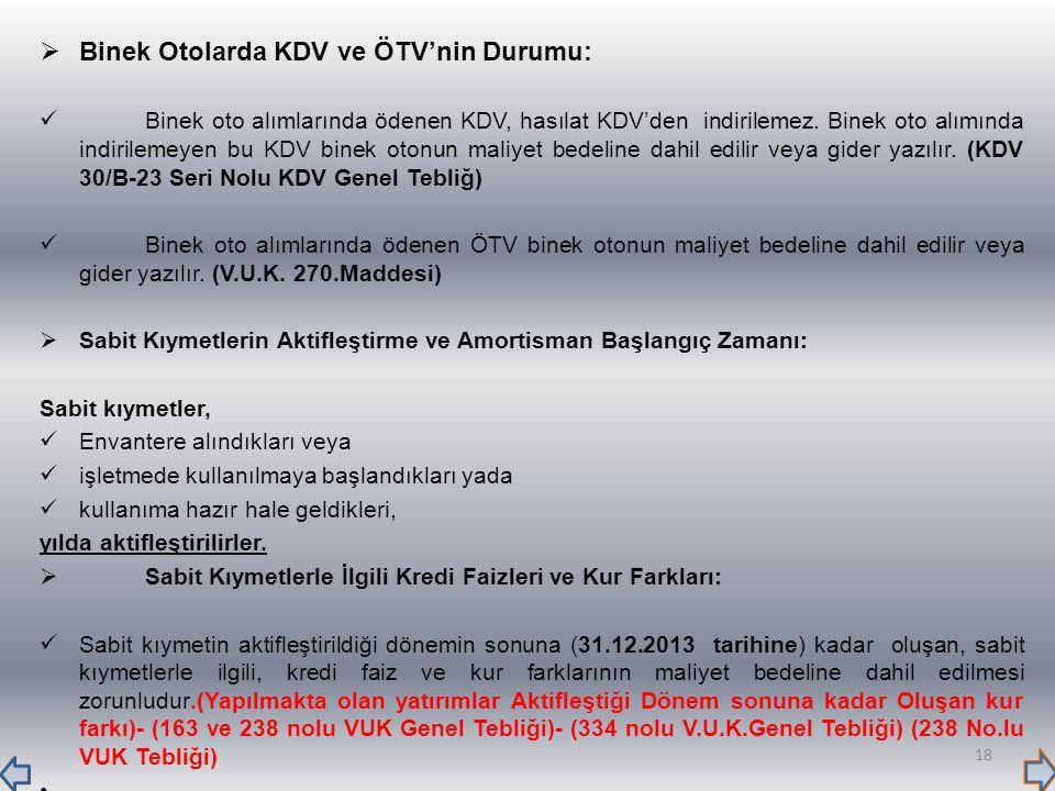 Binek Otolarda KDV ve ÖTV'nin Durumu: