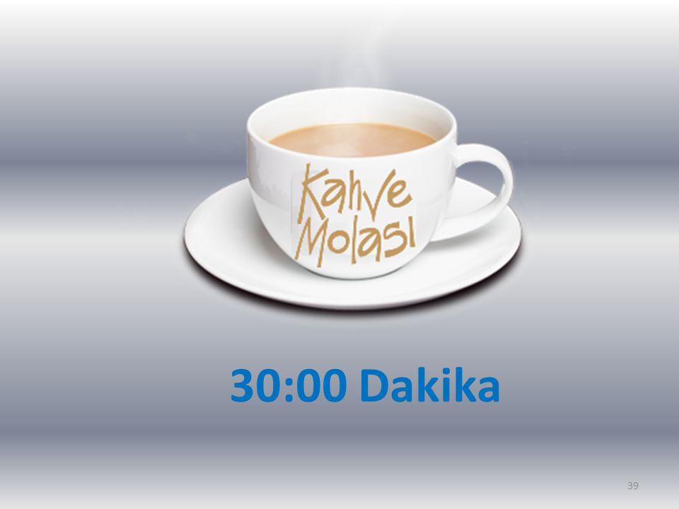 30:00 Dakika