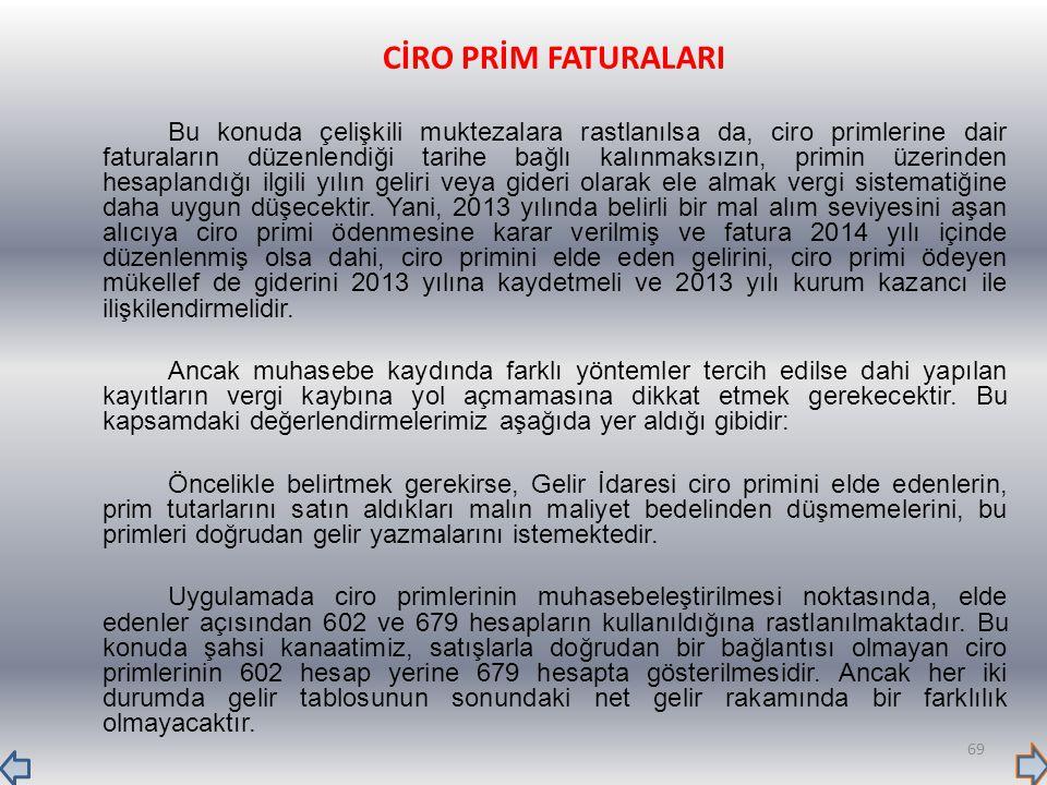 CİRO PRİM FATURALARI
