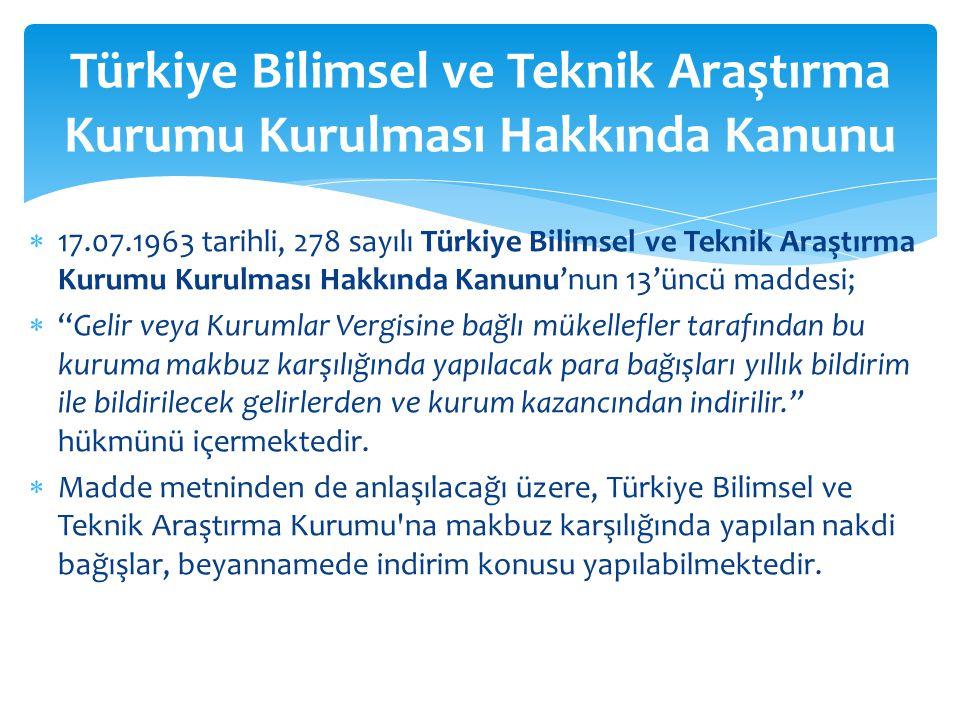 Türkiye Bilimsel ve Teknik Araştırma Kurumu Kurulması Hakkında Kanunu