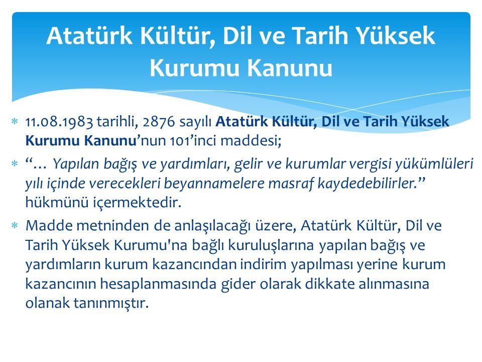 Atatürk Kültür, Dil ve Tarih Yüksek Kurumu Kanunu