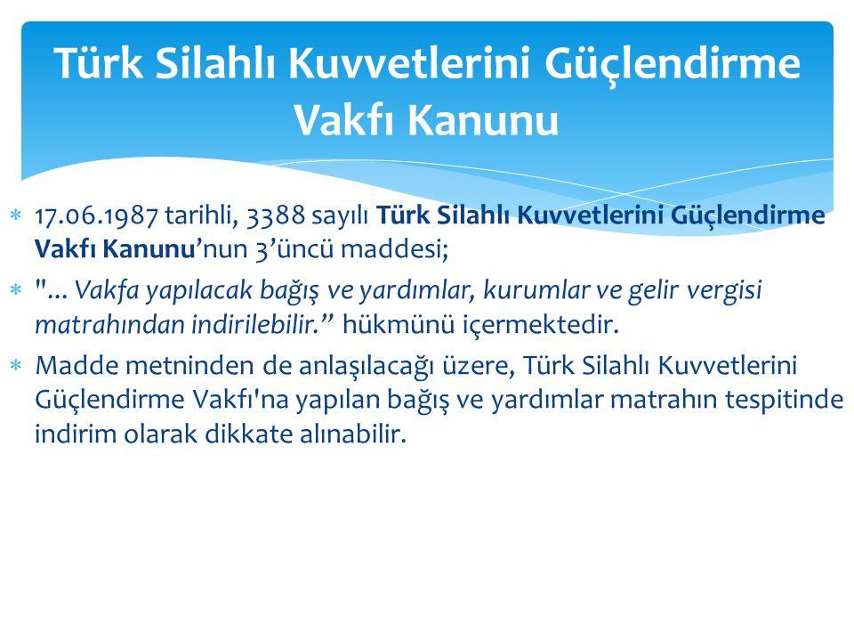 Türk Silahlı Kuvvetlerini Güçlendirme Vakfı Kanunu
