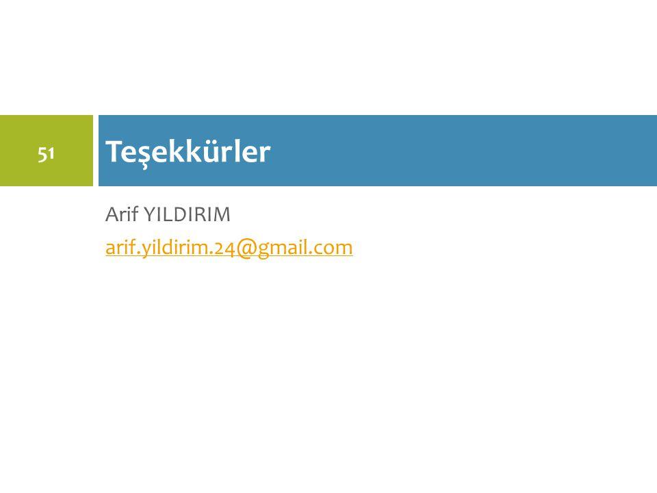 Teşekkürler Arif YILDIRIM arif.yildirim.24@gmail.com