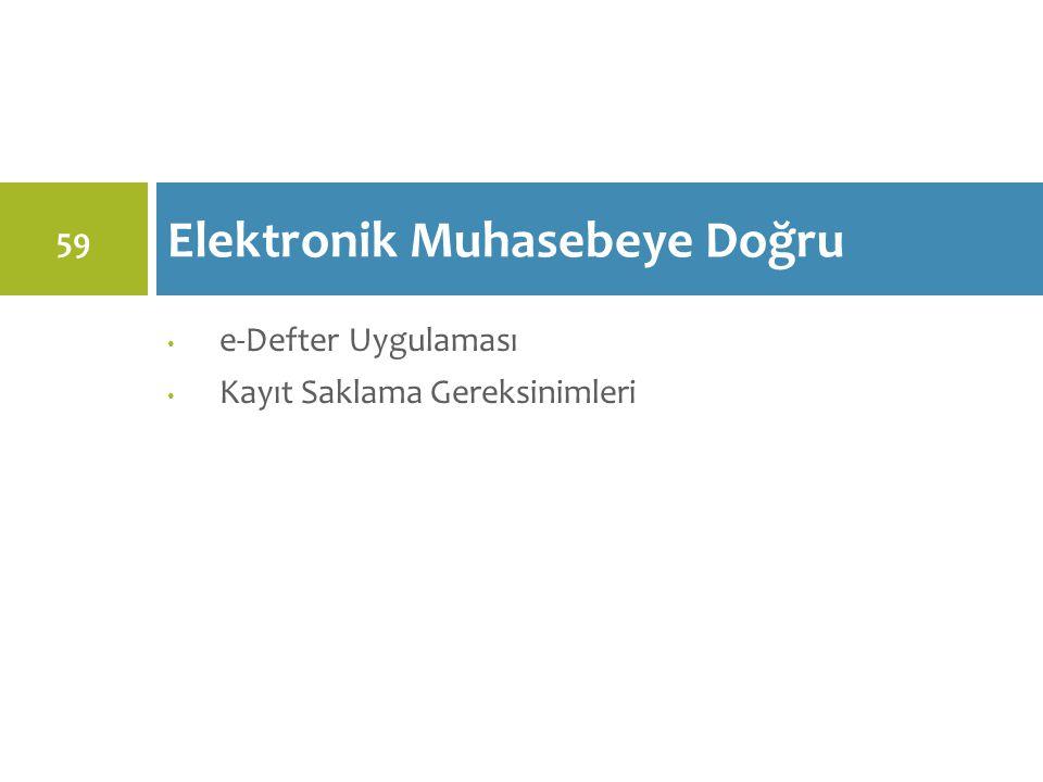 Elektronik Muhasebeye Doğru