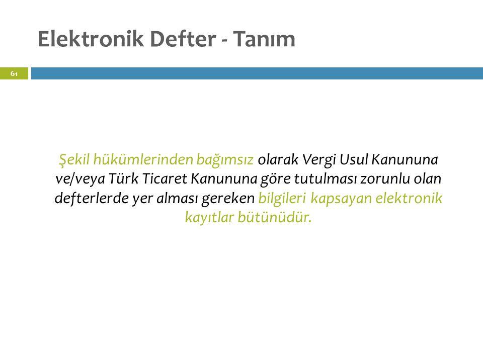 Elektronik Defter - Tanım