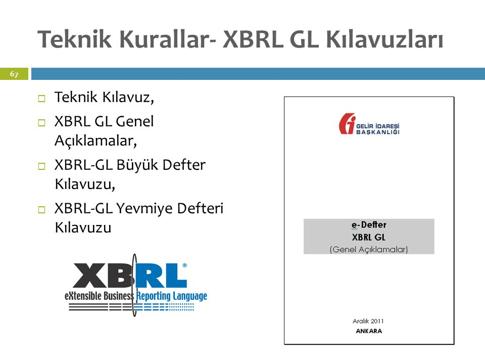 Teknik Kurallar- XBRL GL Kılavuzları