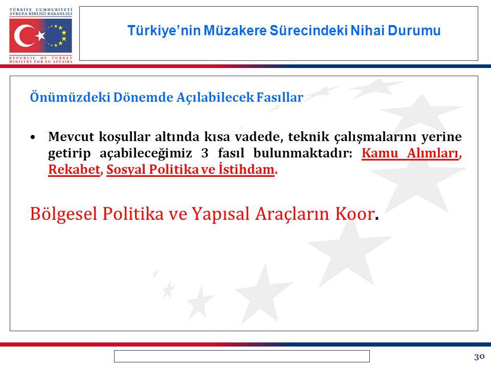 Türkiye'nin Müzakere Sürecindeki Nihai Durumu