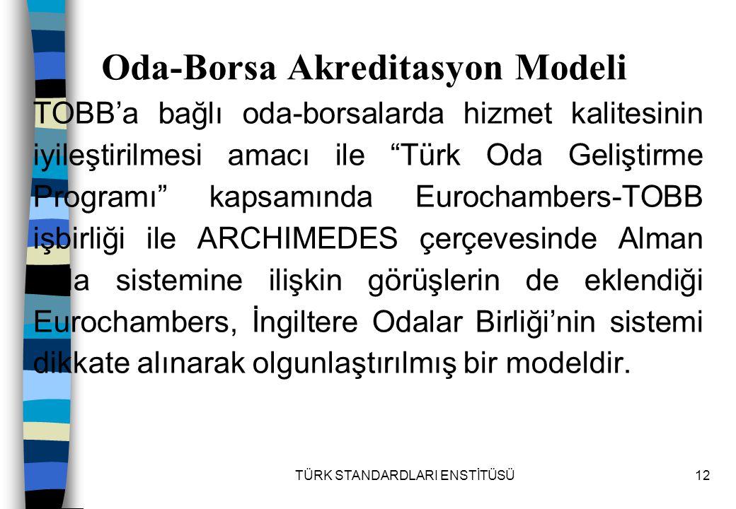 Oda-Borsa Akreditasyon Modeli
