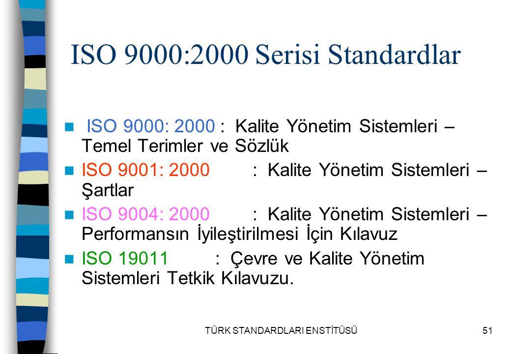 ISO 9000:2000 Serisi Standardlar