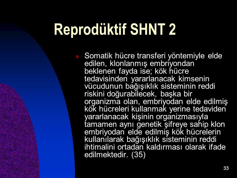 Reprodüktif SHNT 2