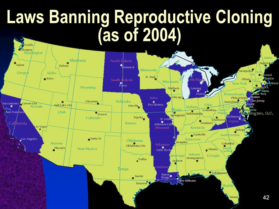 Laws Banning Reproductive Cloning (as of 2004)