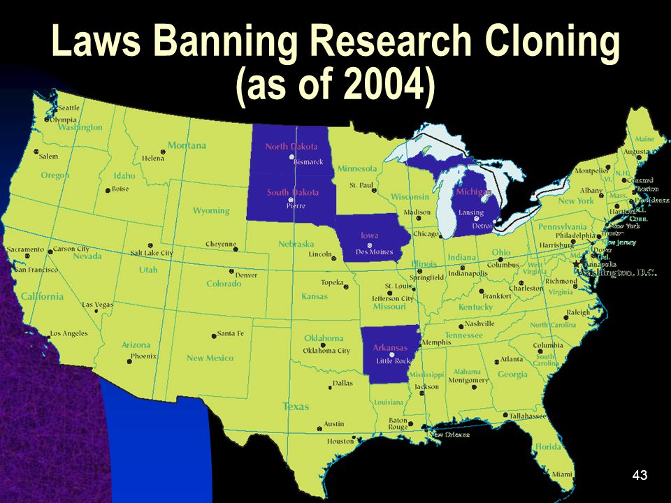 Laws Banning Research Cloning (as of 2004)