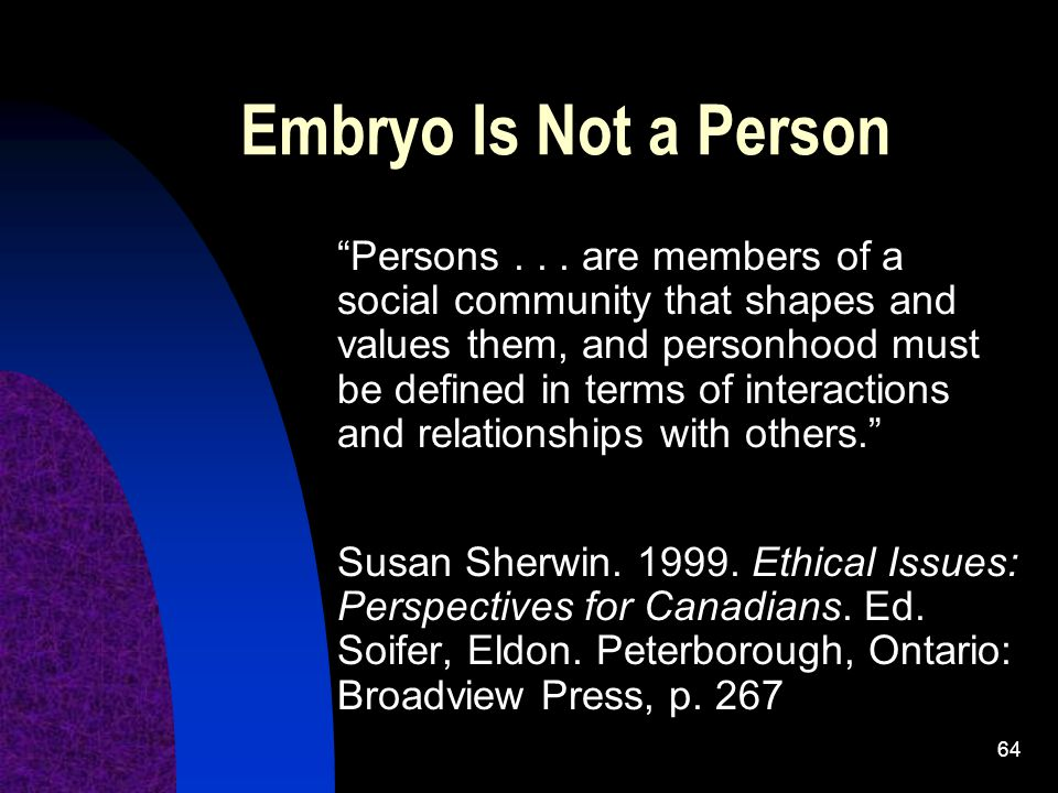 Embryo Is Not a Person