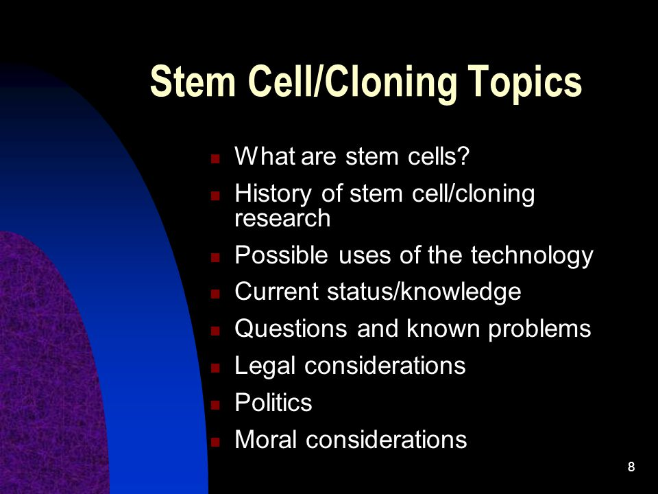 Stem Cell/Cloning Topics