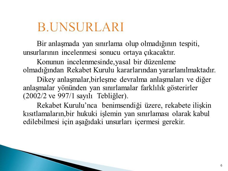 B.UNSURLARI