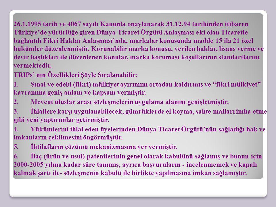26. 1. 1995 tarih ve 4067 sayılı Kanunla onaylanarak 31. 12