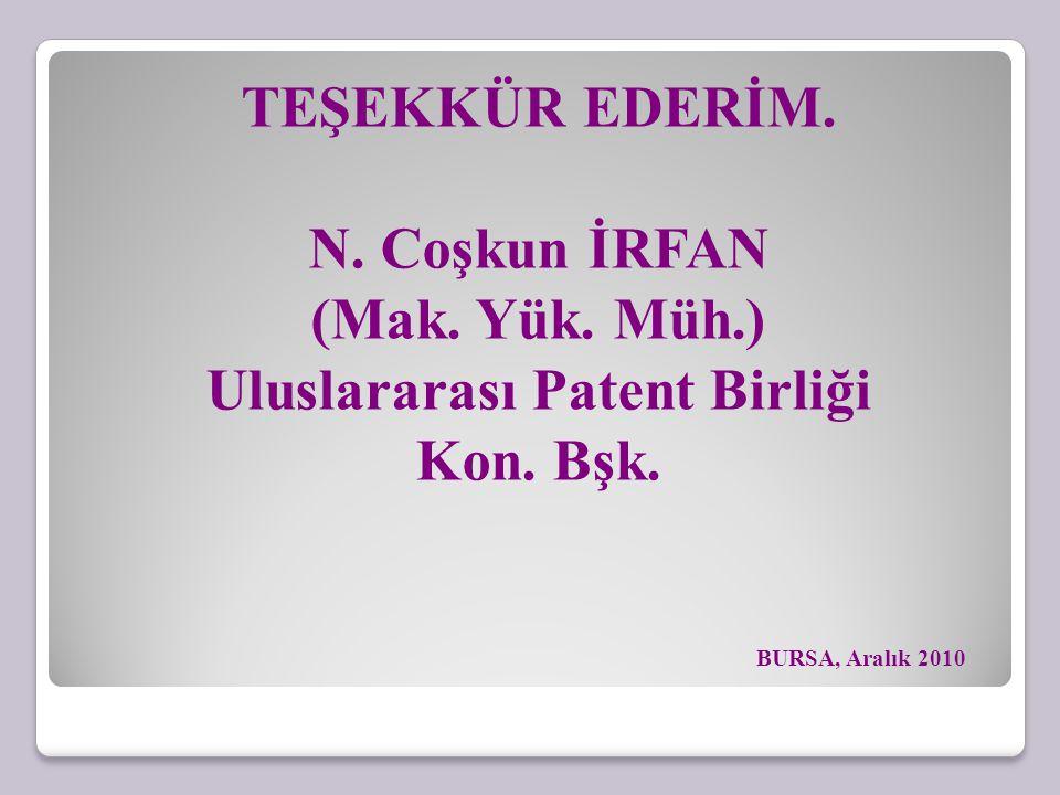 Uluslararası Patent Birliği Kon. Bşk.