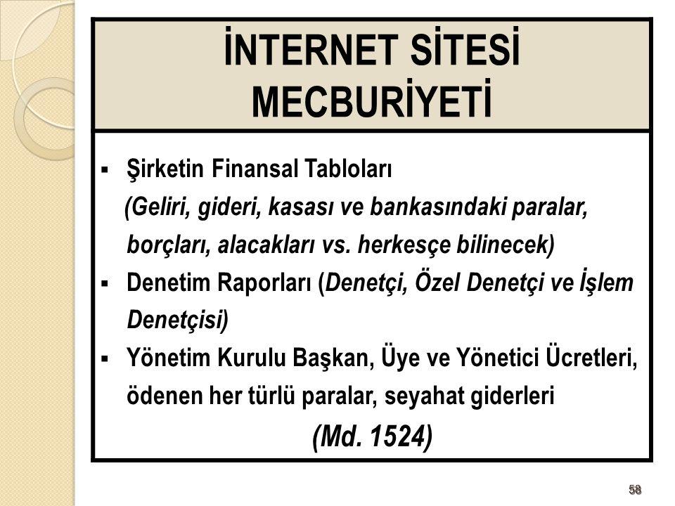 İNTERNET SİTESİ MECBURİYETİ