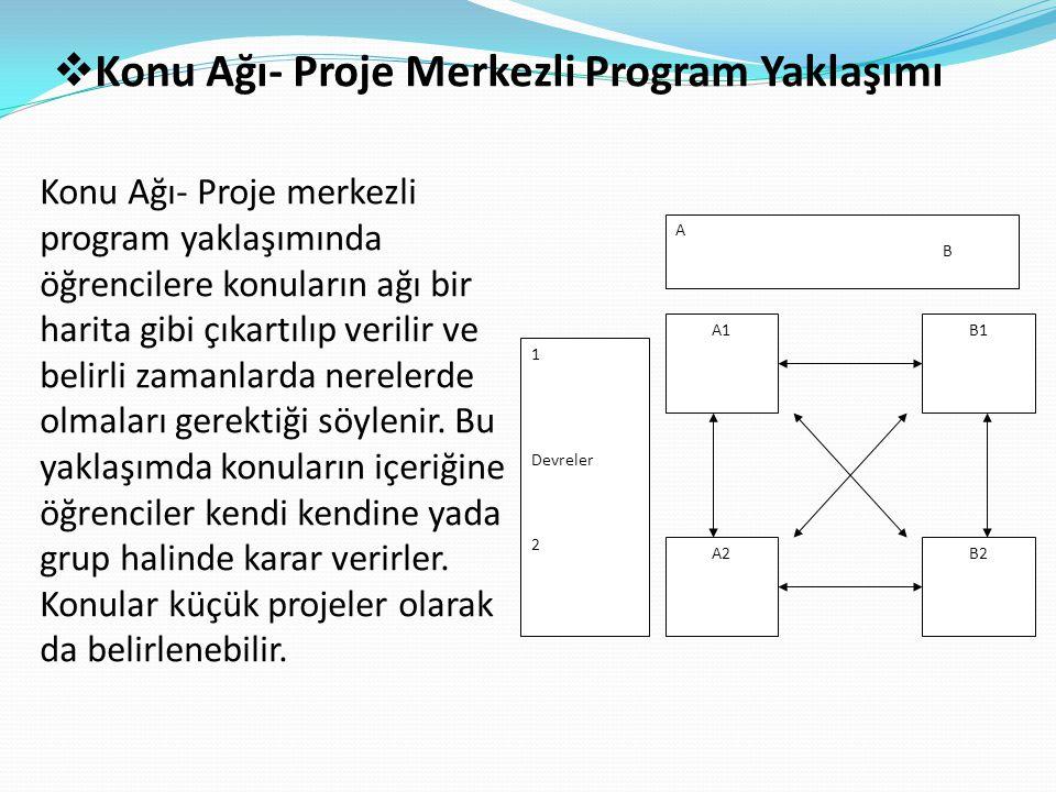 Konu Ağı- Proje Merkezli Program Yaklaşımı