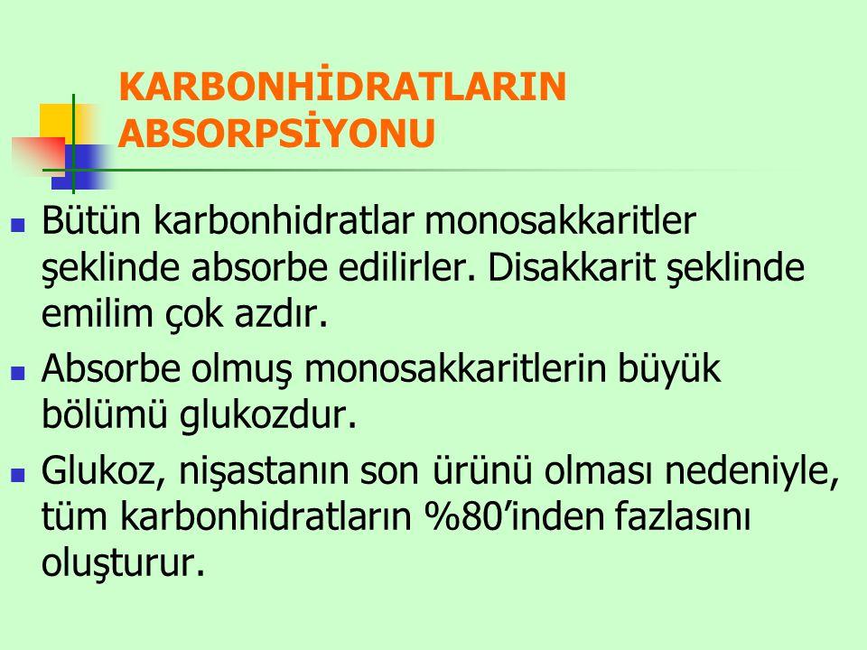 KARBONHİDRATLARIN ABSORPSİYONU