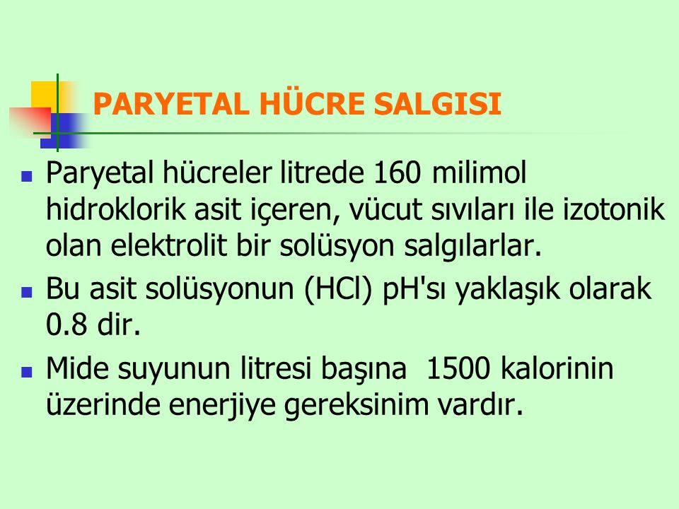 PARYETAL HÜCRE SALGISI