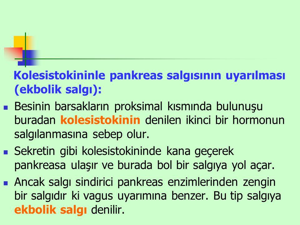 Kolesistokininle pankreas salgısının uyarılması (ekbolik salgı):