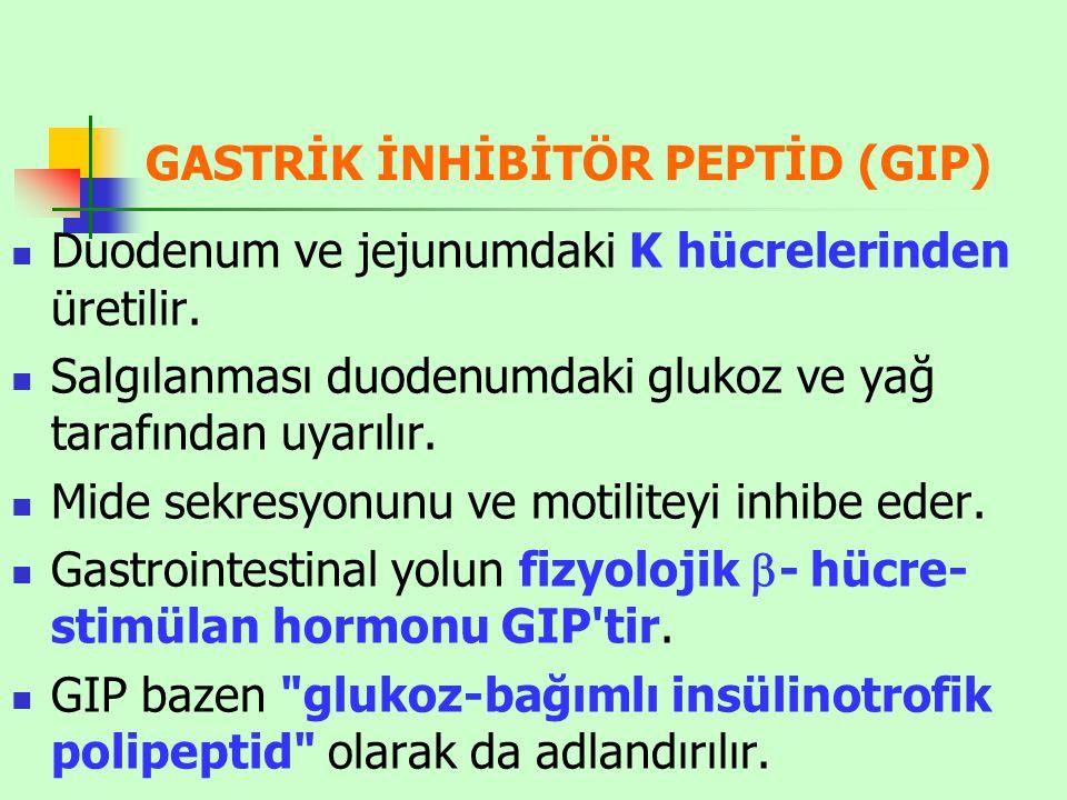 GASTRİK İNHİBİTÖR PEPTİD (GIP)