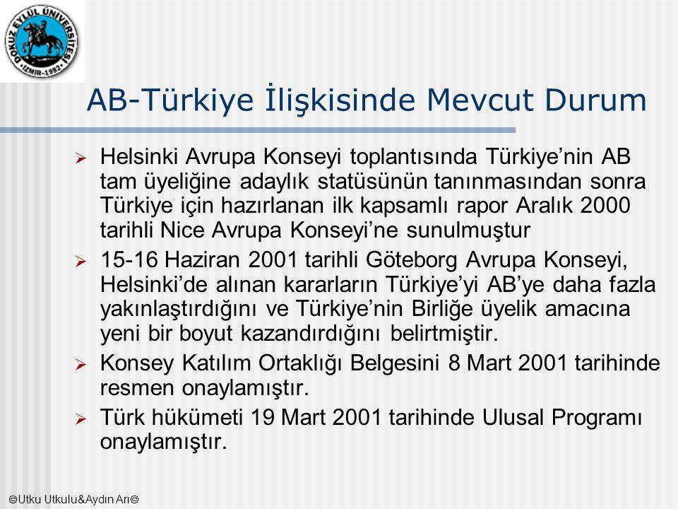 AB-Türkiye İlişkisinde Mevcut Durum