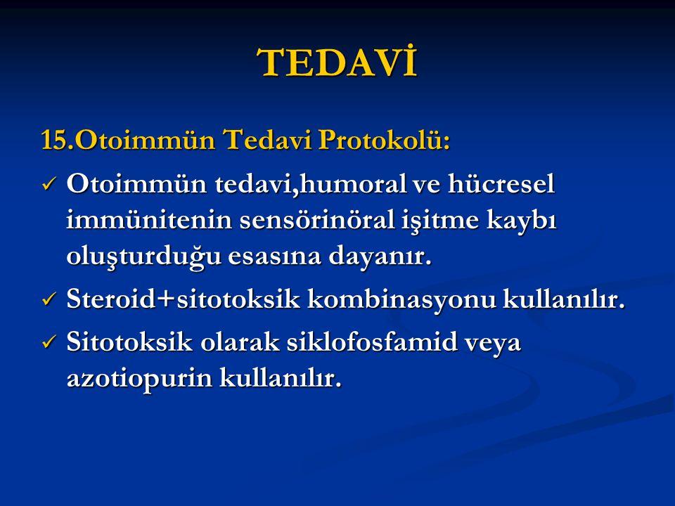 TEDAVİ 15.Otoimmün Tedavi Protokolü: