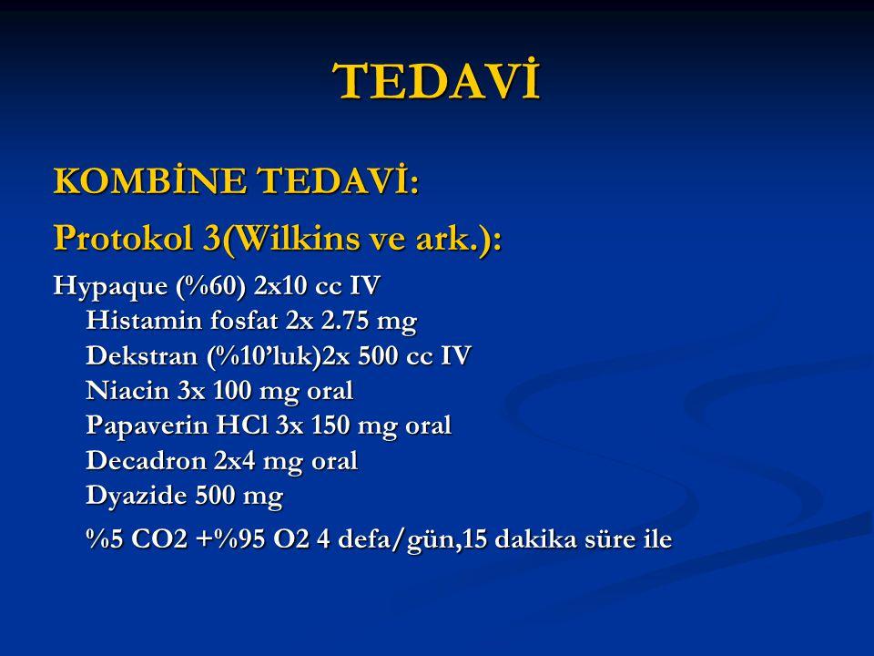 TEDAVİ KOMBİNE TEDAVİ: Protokol 3(Wilkins ve ark.):