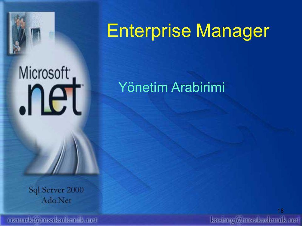 Enterprise Manager Yönetim Arabirimi