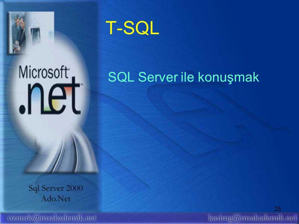 T-SQL SQL Server ile konuşmak