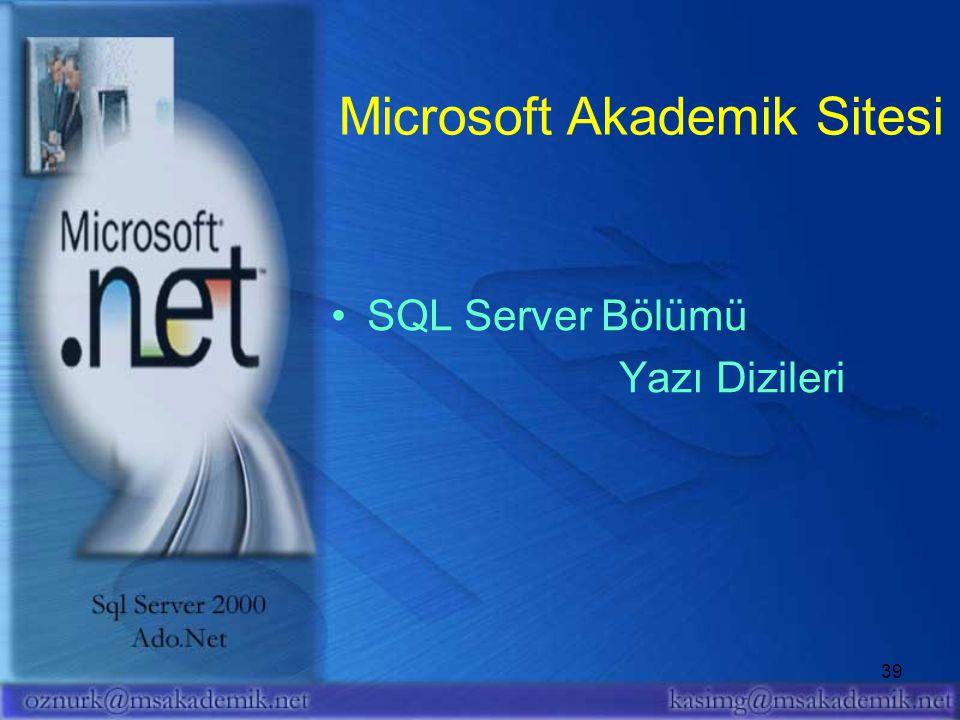 Microsoft Akademik Sitesi