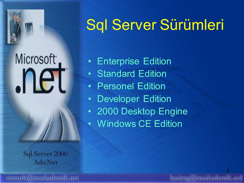Sql Server Sürümleri Enterprise Edition Standard Edition