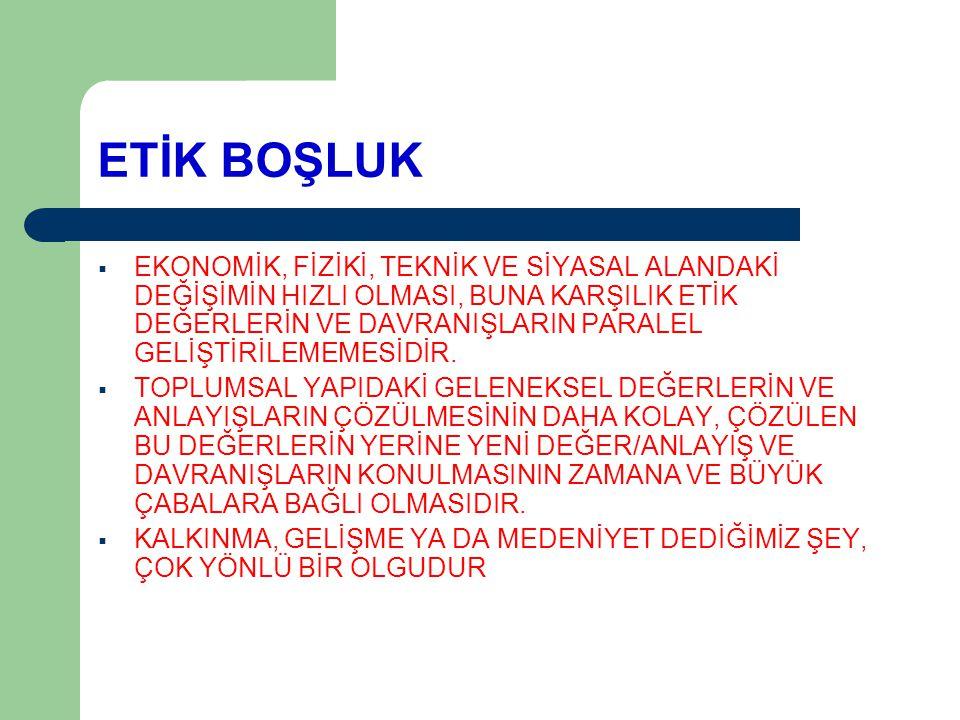 ETİK BOŞLUK