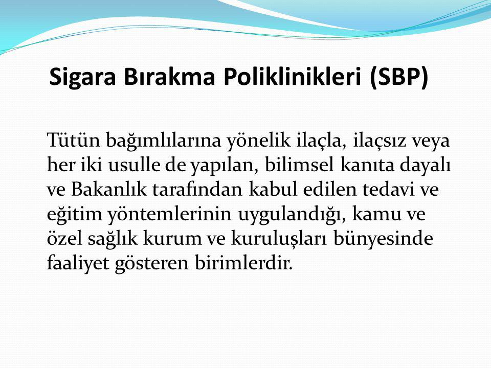 Sigara Bırakma Poliklinikleri (SBP)