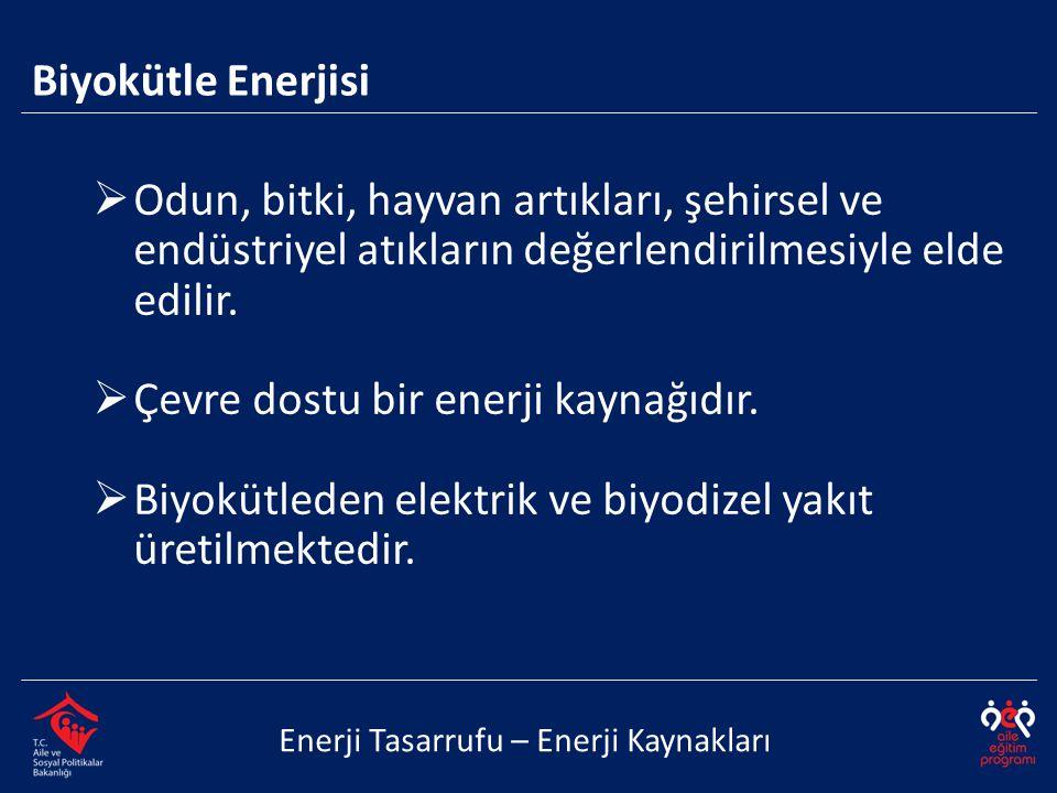 Çevre dostu bir enerji kaynağıdır.