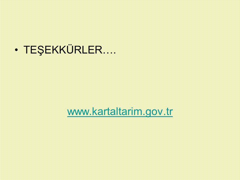 TEŞEKKÜRLER…. www.kartaltarim.gov.tr