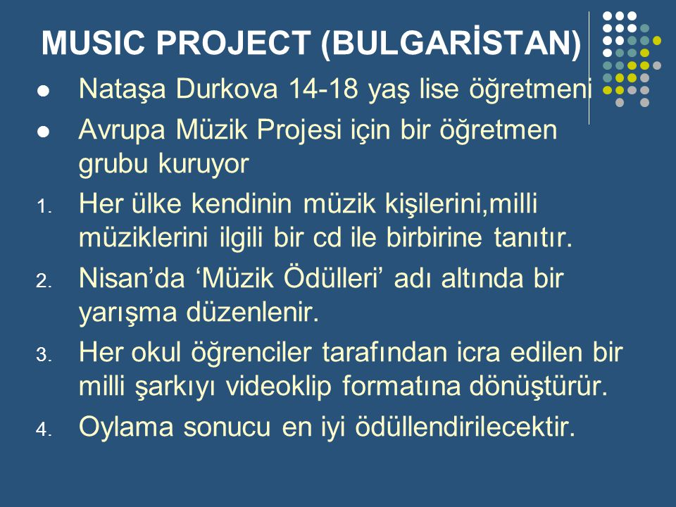 MUSIC PROJECT (BULGARİSTAN)